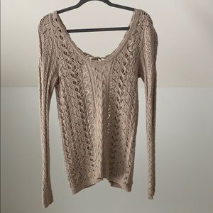 Free People knit tie back sweater M